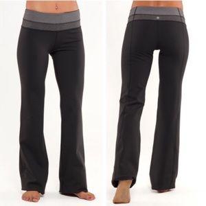Lululemon Groove Flare Yoga Pants Charcoal Grey